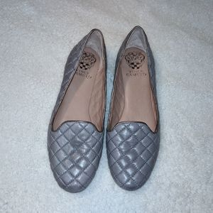 Vince Camuto quilted leather flats size 7 ~EUC~